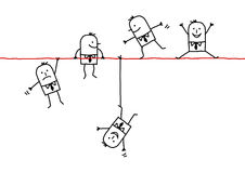 Hombres de negocios en un alambre ilustración del vector