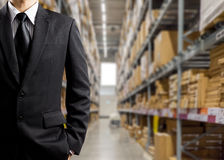 Hombres de negocios en Warehouse Imagen de archivo