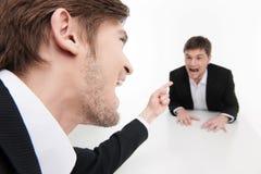 Hombres de negocios enojados. foto de archivo libre de regalías