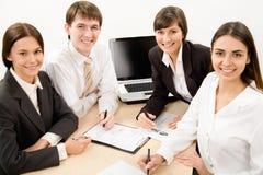 Hombres de negocios felices foto de archivo libre de regalías