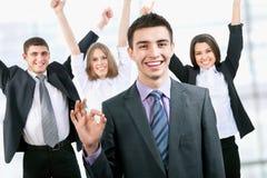 Hombres de negocios felices imagenes de archivo