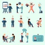Hombres de negocios fijados libre illustration