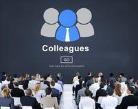 Hombres de negocios globales de la conferencia del seminario del concepto de las ideas Foto de archivo libre de regalías