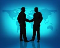 Hombres de negocios globales del acuerdo