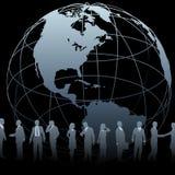 Hombres de negocios globales del globo de la tierra Imagen de archivo libre de regalías