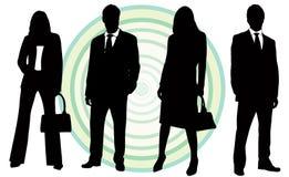 Hombres de negocios ilustrados Foto de archivo libre de regalías