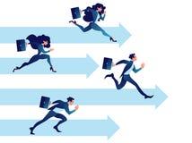Hombres de negocios de la competencia Concepto del negocio del trabajo en equipo del vector ilustración del vector