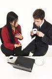 Hombres de negocios que beben el café Fotografía de archivo libre de regalías