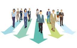 Hombres de negocios que caminan adelante stock de ilustración