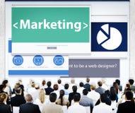 Hombres de negocios que comercializan conceptos del diseño web Imagen de archivo libre de regalías