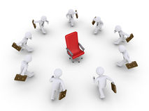 Hombres de negocios que corren para conseguir la promoción Imagen de archivo libre de regalías