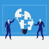 Hombres de negocios que crean las ideas, ejemplo del vector stock de ilustración