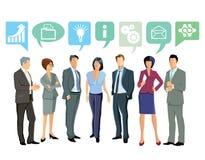 Hombres de negocios que discuten ideas stock de ilustración