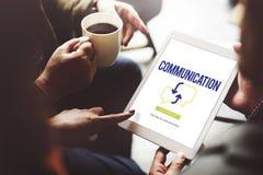 Hombres de negocios que hacen frente a concepto de la comunicación de la discusión Fotografía de archivo