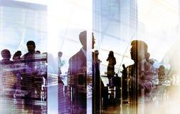 Hombres de negocios que hacen frente a la discusión Team Concept corporativo Imágenes de archivo libres de regalías