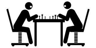 Hombres de negocios que juegan a ajedrez ilustración del vector