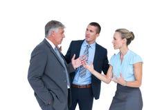 Hombres de negocios que tienen un desacuerdo Imágenes de archivo libres de regalías