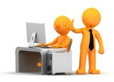 Hombres de negocios que trabajan con el ordenador libre illustration