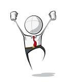 Hombres de negocios simples - victoria Imagen de archivo libre de regalías