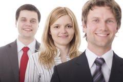 Hombres de negocios sonrientes Foto de archivo libre de regalías