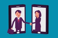 Hombres de negocios y acuerdo de la sociedad Ejemplo b del vector stock de ilustración