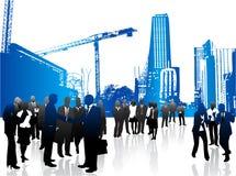 Hombres de negocios y ciudad libre illustration