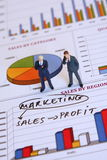 Hombres de negocios y comercialización Fotografía de archivo