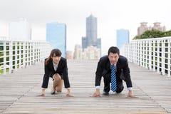 hombres de negocios y comptition Foto de archivo libre de regalías