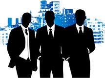 Hombres de negocios y edificio ilustración del vector