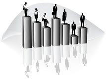 Hombres de negocios y gráfico Foto de archivo libre de regalías