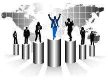 Hombres de negocios y gráfico ilustración del vector