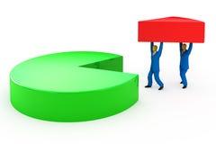 Hombres de negocios y gráfico de sectores Imágenes de archivo libres de regalías