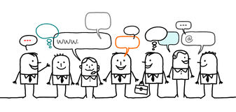 Hombres de negocios y red social Imagen de archivo libre de regalías