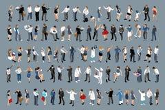 Hombres de negocios y sistema de la oficina de las señoras del negocio stock de ilustración