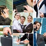 Hombres de negocios y tecnología imagen de archivo libre de regalías