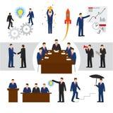 Hombres de negocios y trabajo en equipo del vector Fotografía de archivo