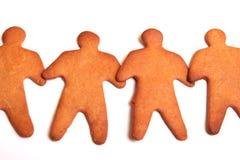 Hombres de pan de jengibre de las personas Foto de archivo