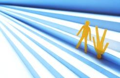 Hombres de papel en escalera Imagen de archivo libre de regalías