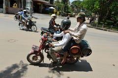 Hombres de salida de la moto Imágenes de archivo libres de regalías