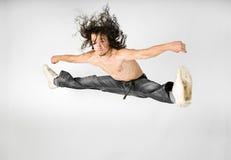 Hombres de salto Foto de archivo libre de regalías