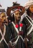 Hombres de Wodaabe en Gerewol, curación Salee, Niger Fotos de archivo