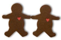 Hombres del chocolate en amor Foto de archivo