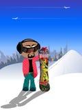 Hombres del esquí Imagen de archivo libre de regalías
