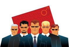 Hombres del grupo Imágenes de archivo libres de regalías