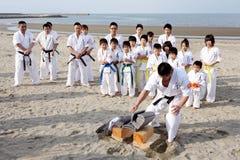 Hombres del karate Imágenes de archivo libres de regalías