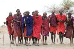 Hombres del Masai Foto de archivo libre de regalías