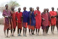 Hombres del Masai Foto de archivo