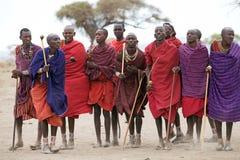 Hombres del Masai Imágenes de archivo libres de regalías