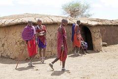 Hombres del Masai Imagen de archivo