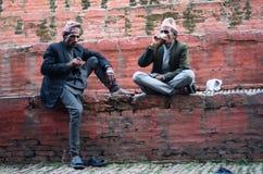 Hombres del Nepali imagen de archivo libre de regalías